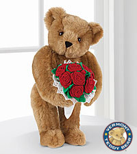 Vermont Teddy Bear® 15-inch Red Rose Bouquet Bear