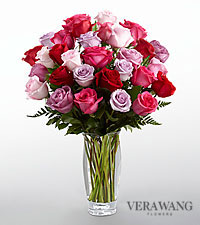 The FTD® Captivating Color™ Rose Bouquet by Vera Wang - VASE INCLUDED