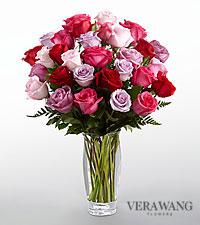 Le bouquet de roses Couleur captivante™ de FTD® de Vera Wang - VASE INCLUS