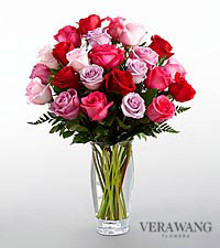 Le bouquet de roses Couleur captivante™ de FTD® de Vera Wang - VASE INCLUS