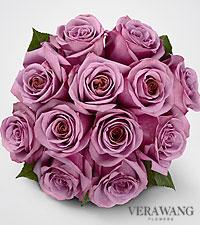 Vera Wang Lavender Rose Bouquet - 12 Stems, No Vase