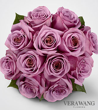 Vera Wang Lavender Rose Bouquet - 12 Stems  Premium Roses, No Vase