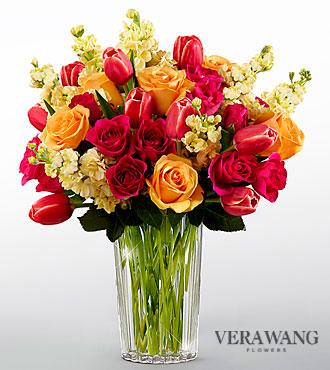 Le bouquet Beauty and Grace™ de FTD® par Vera Wang - VASE INCLUS