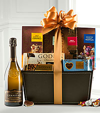 Holiday Wine and Godiva® Basket