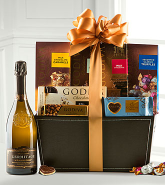 Holiday Wine and Godiva® Basket
