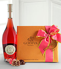 Sofia Rose and Godiva® Wine Gift