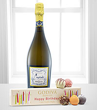 Godiva® Birthday Flight and Bubbly