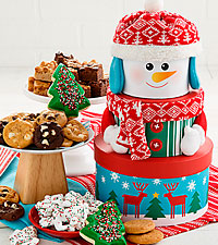 Traditional Snowman Tower