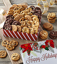 Mrs. Fields® Happy Holidays Cookie Tin