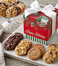 Mrs. Fields® Mistletoe Mini Holiday 24 Nibblers® Gift Box