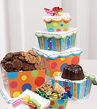 Mrs. Beasley's® Happy Birthday Cookie & Dessert Tower