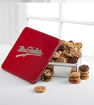 Mrs. Fields® Classic Tin with 60 Assorted Cookie Nibblers®