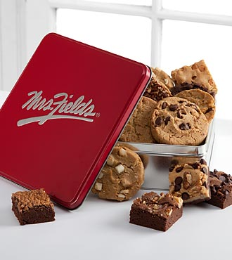 Mrs. Fields® Classic Tin with Brownie & Cookie Assortment