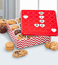 Mrs. Fields® Happy Valentine's Day Tin - 48 Nibblers®