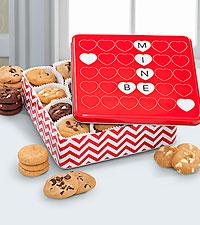 Mrs. Fields® Happy Valentine's Day Tin - 48 Nibblers®