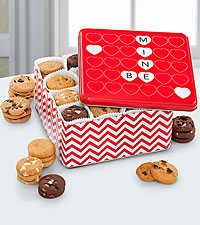 Mrs. Fields® Happy Valentine's Day Tin - 96 Nibblers®