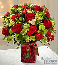 The FTD® Yuletide Joys Holiday Bouquet by Better Homes and Gardens®-VASE INCLUDED