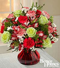 The FTD® Holiday Brights Bouquet by Better Homes and Gardens® - VASE INCLUDED