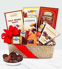 Gift basket ideas wine basket raffle basket ideas from ftd chocolate indulgence baskets negle Images