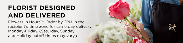 Same Day Flower Delivery - Florist Designed and Delivered