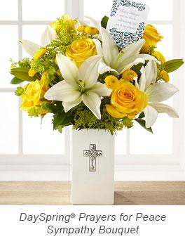 Prayers for Peace Sympathy Bouquet