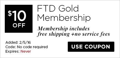 $10 off FTD Gold Membership