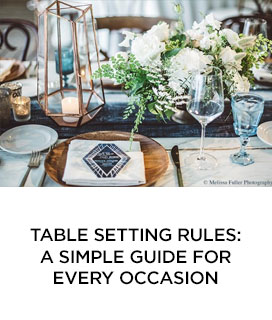 Table Setting Rules