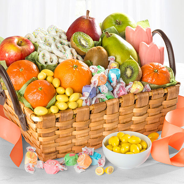 Spring Sensation Fruit & Sweets Gourmet Gift Basket
