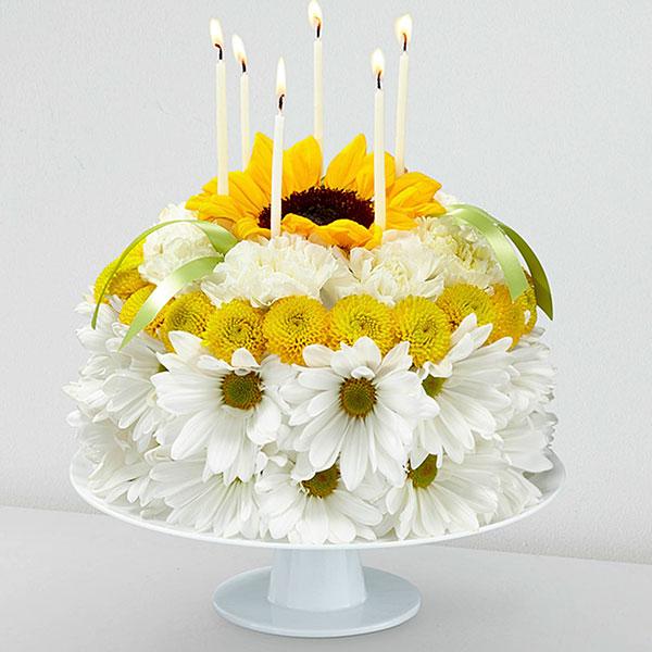 The FTD Birthday Smiles TM Floral Cake