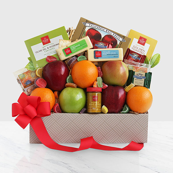 Food gifts best gourmet food gift baskets delivered ftd fresh fruit cheese box sciox Choice Image