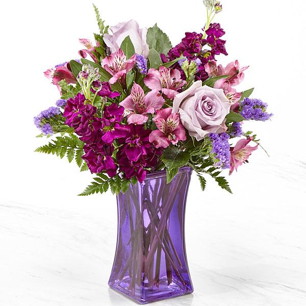 Purple Presence™ Bouquet- VASE INCLUDED