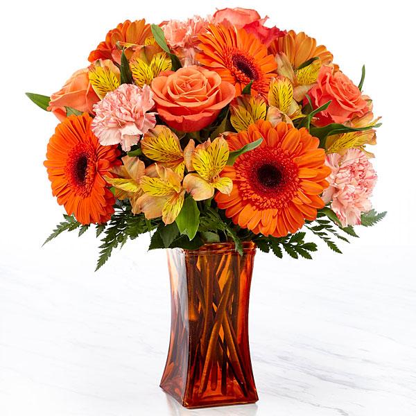 Orange Essence™ Bouquet- VASE INCLUDED