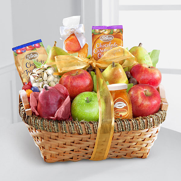Gift baskets unique food gift baskets delivered by ftd warmhearted wishes fruit gourmet kosher gift basket negle
