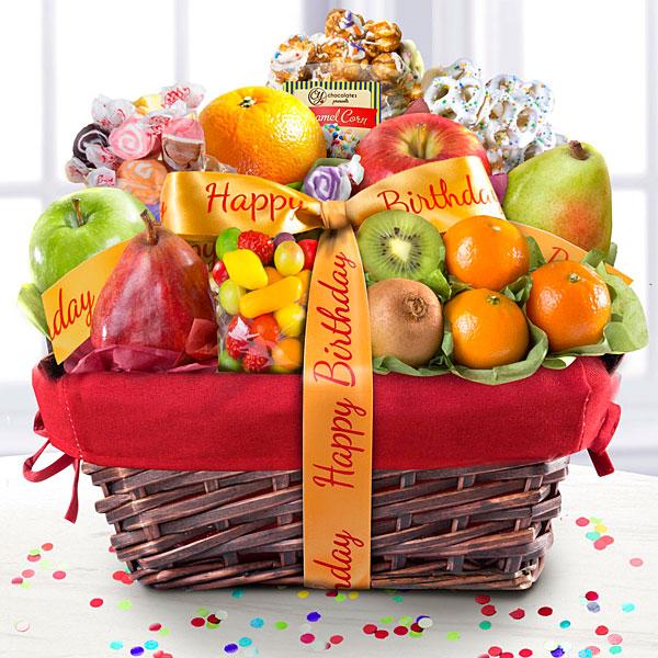 Happy Birthday Gourmet Fruit Basket