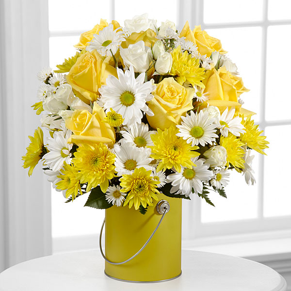 The Color Your Day With Sunshine Bouquet by FTD - VASE INCLUDED