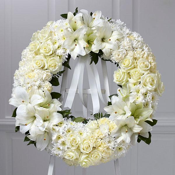 Wreath of Remembrance™ -White Ribbon