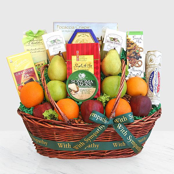 Sincere Sympathies Fruit Basket