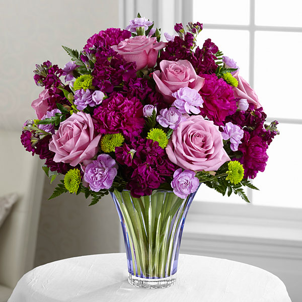 The Timeless Traditions™ Bouquet - CUT GLASS VASE INCLUDED