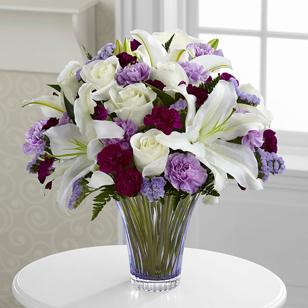 The Thinking Of You Bouquet Cut Glass Vase Included